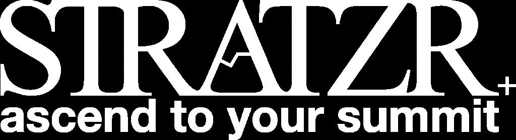 STRATZR ascend to your summit logo white